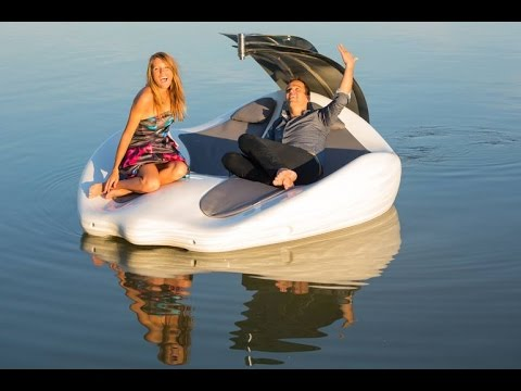 Electric boat meets lounge chair on Chilli Island  YouTube