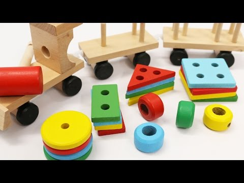 Thumbnail: Learn Shapes & Colors for Children with Wooden Train Toy