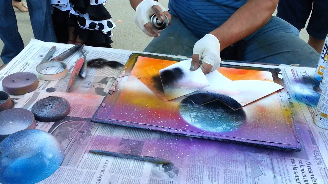 Dibujo con spray arte youtube - Pintura con spray ...