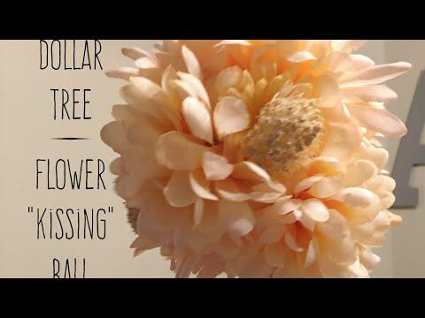 "DIY Dollar Tree Flower ""Kissing"" Balls 2017"