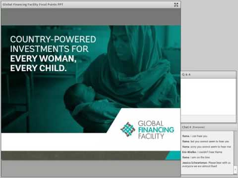 Global Financing Facility Webinar for FP2020 Focal Points - 2.4.2016