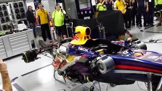 F1 2013 Redbull RB9 Last fire up INSANE EXHAUST  Bye V8, enjoy it!!!