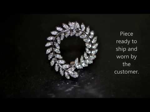 petal shape Marquise Diamond Earring design