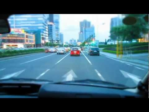Driving through Zhongshan, China