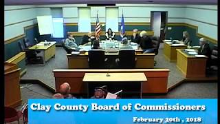 B180220A - 02/20/18 - Clay County MN Board of Commissioners