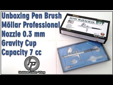 Unboxing Pen Brush Mollar Professional Nozzle 0.3 mm Gravity Cup Capacity 7 cc