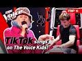 Famous TIKTOK songs on The Voice Kids! 😍| Top 6