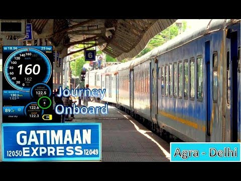 ONBOARD GATIMAAN Exp. ! FASTEST TRAIN OF INDIA FULL JOURNEY AGRA TO DELHI | PrasoonRailLoverTM
