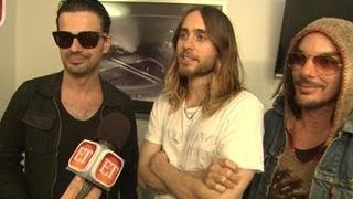 Repeat youtube video Jared Leto Talks 30 Seconds To Mars