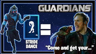 Stride Dance In Real Life, Guardians of the Galaxy, Fortnite Season 10