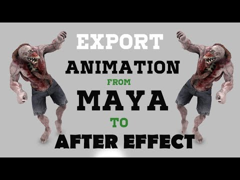 Export animation Object  from maya to After Effects - CGI Tutorial HD | CGMeetup