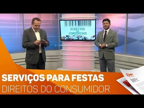 Direitos do Consumidor: Serviços para festas - TV SOROCABA/SBT