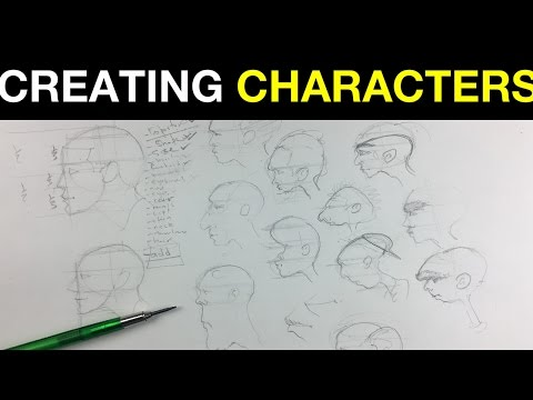 Beginner Portrait Drawing E3 | How to Create Characters in Profile | A Simple Intro