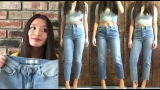 DENIM DISCUSSION | TOPSHOP Mom, Boyfriend, Straight Jeans Review || theStyleHungry
