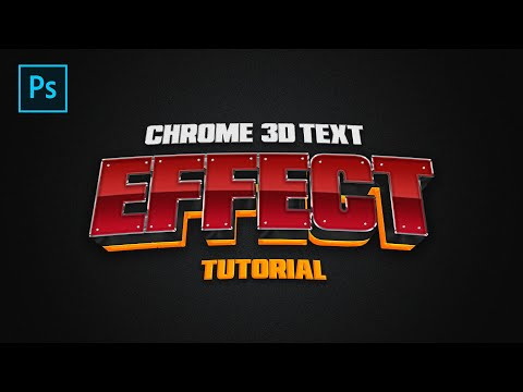 3D Chrome Text Effect Tutorial (REALLY COOL!!) - Tutorial By EdwardDZN