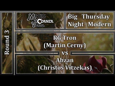 [ENG] Magic Corner Vienna BTNM - RG TRON vs ABZAN MIDRANGE [MODERN]