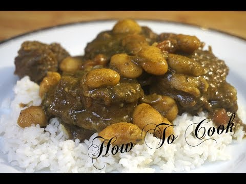 HOW TO MAKE -THE BEST AUTHENTIC CARIBBEAN JAMAICAN CURRY TURKEY NECK & BUTTER BEAN RECIPE 2017