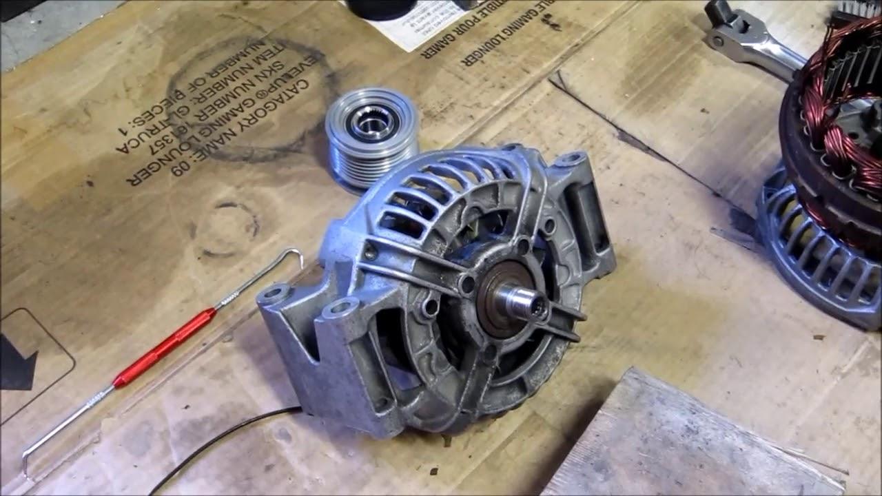 Mercedes Benz W203 C230 KOMPRESSOR Alternator Rebuild and Pulley Replacement
