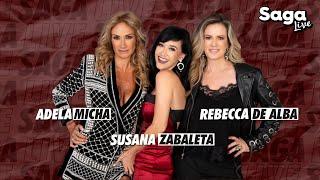 Susana Zabaleta y Rebecca De Alba con Adela Micha