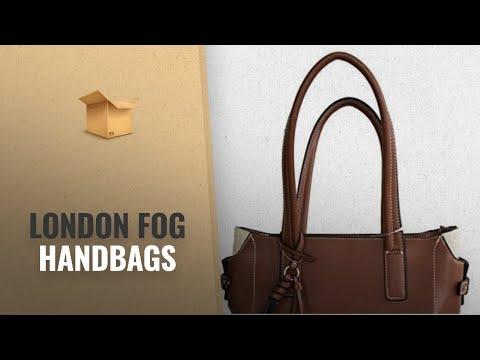 Top 10 London Fog Handbags [2018 Best Sellers]: London Fog Brown Russet Top Handle Purse By Brand: