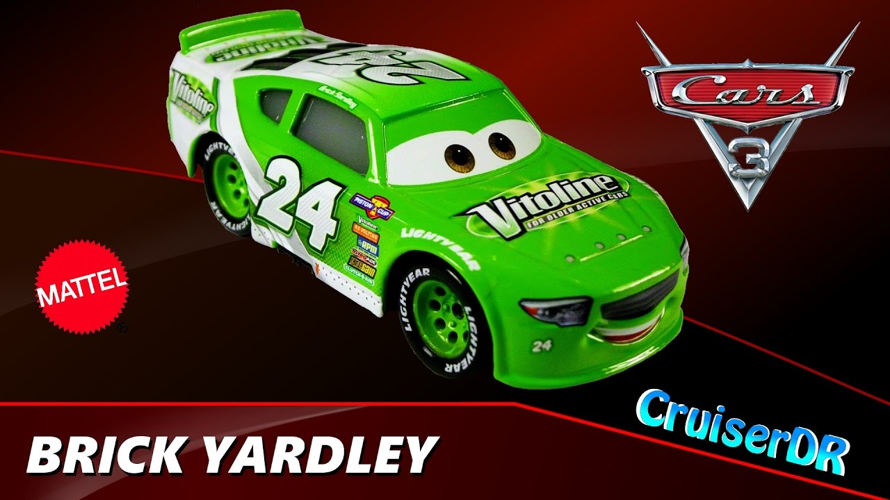 Disney Pixar Cars 3 Diecast Brick Yardley Team Vitoline 1 55