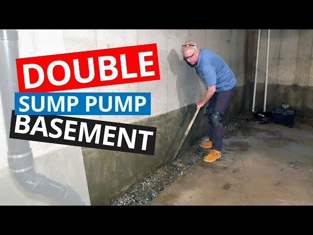 How Do We Pitch Drainage Pipe in Large Basements? | Two Sump Pump Stations