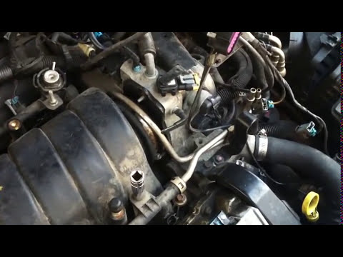 vacuum leak repair on cadillac northstar engine - YouTube