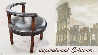 DIY victorian horseshoe chair