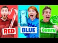 Eating One Color of Candy for 24 Hours ($1000 CHALLENGE)