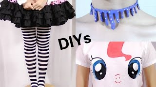 3 Last Minute Halloween DIYs: My Little Pony + Dripping Pastel Blood Choker + Striped Tights