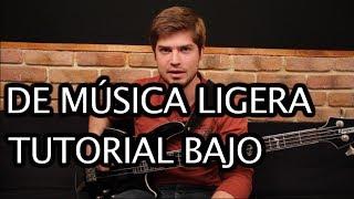 "Como tocar ""De Música Ligera"" de Soda Stereo - Tutorial Bajo (HD)"