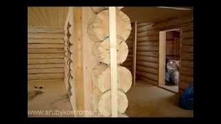видео Отделка сруба после усадки: с чего начать
