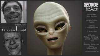 Facial mocap : George the Alien - test rendering with Octane
