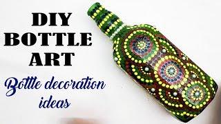 DIY bottle art | bottle decoration | bottle craft | bottle lamp | best out of waste how to make
