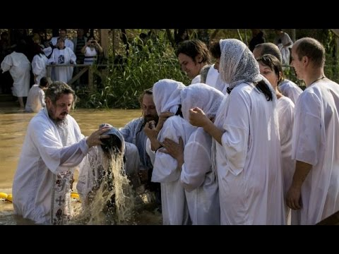 The site of the baptism of Jesus - the Jordan River near Jericho, Jerusalem and the Dead Sea