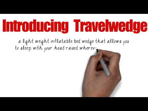 Travelwedge - lightweight inflatable bed wedge (acid reflux wedge)