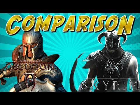 Comparison  Oblivion Vs. Skyrim