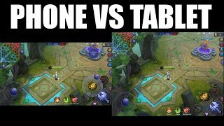 IPHONE ANDROID VS IPAD TABLET SCREEN WHEN PLAYING MOBILE LEGENDS