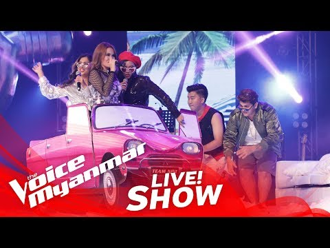 "TeamNiNi: ""Boom Boom Boom Boom & We Like To Party"" - Live Show - The Voice Myanmar 2018"