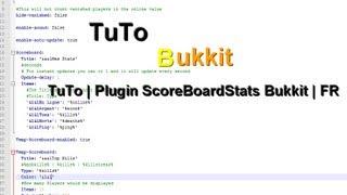 TuTo | Plugin ScoreBoardStats  Bukkit | FR
