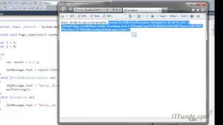 How to handle error in ASP.NET? How to handle multiple types of error?