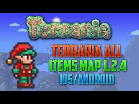 Карта со всеми вещами в террарии 1.2.4.1 на андроид