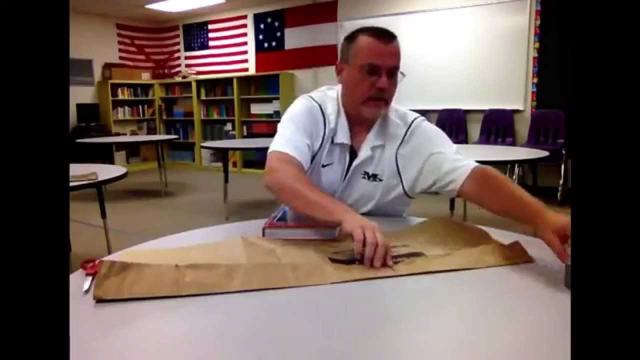 How To Make A Book Cover Out Of A Paper Bag ~ How to make a paper bag book cover. aug 12 2015 youtube