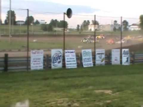 Emily Gade Win Feature at Jackson County Speedway 7/25/09