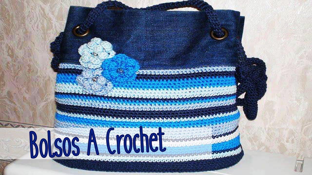 d0a1bb989 Cartera - Bolsos Tejido a Crochet - YouTube