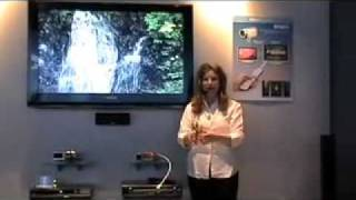 Panasonic AVCHD Video Camera Product Launch at CES 2007 by Trade Show Presenter Emilie Barta