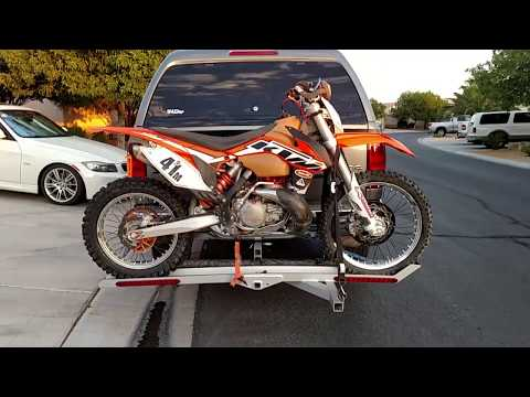 Custom Aluminum Motorcycle Carrier (hitch mount)