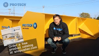 drive your snow pusher from site to site pro tech sno pusher