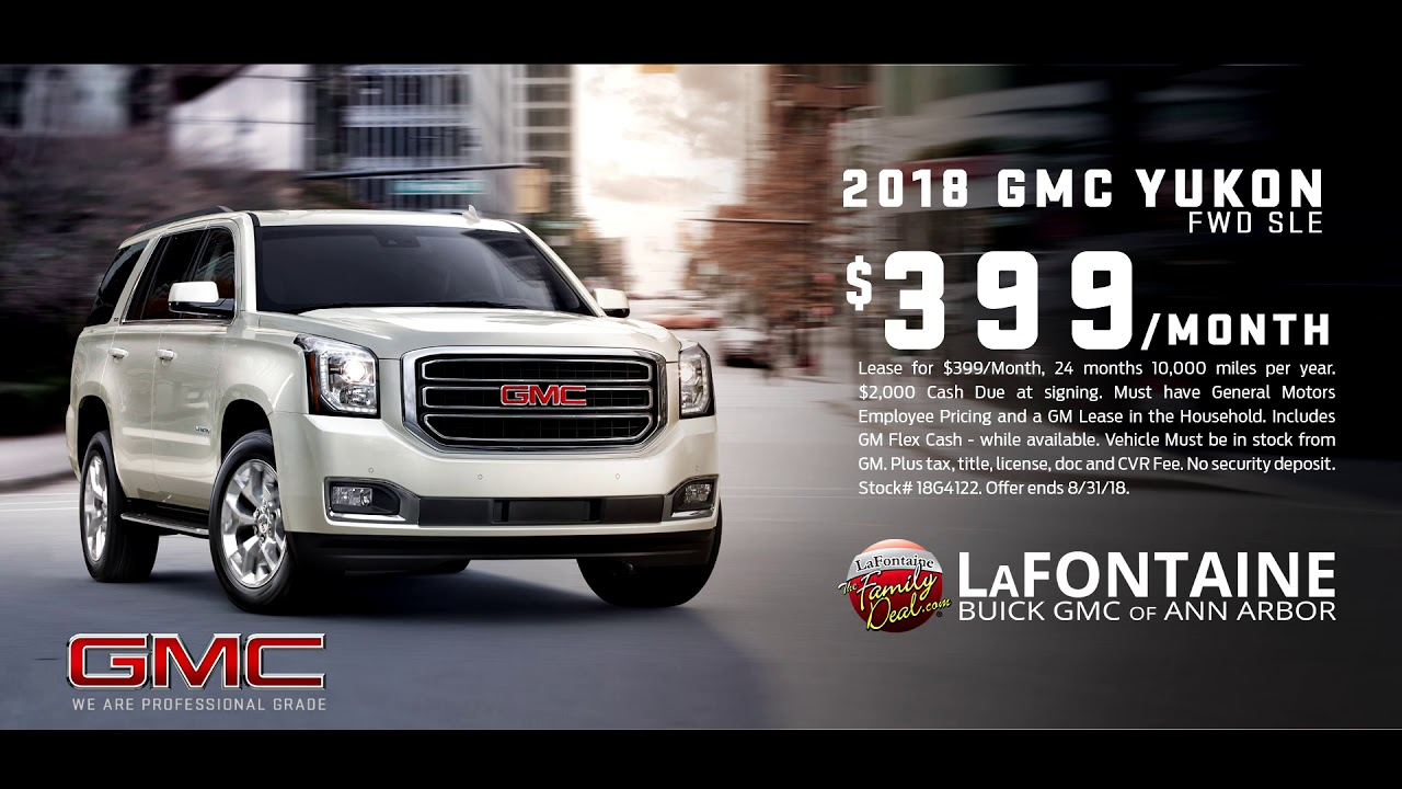lafontaine buick gmc of ann arbor 2018 gmc yukon august youtube. Black Bedroom Furniture Sets. Home Design Ideas