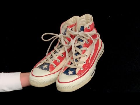Vintage USA-MADE Converse All Star Chuck Taylor AMERICAN FLAG, Women's Size 8 (mens 6) Shoes